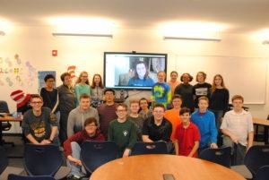 8th Graders Skype with Ukraine
